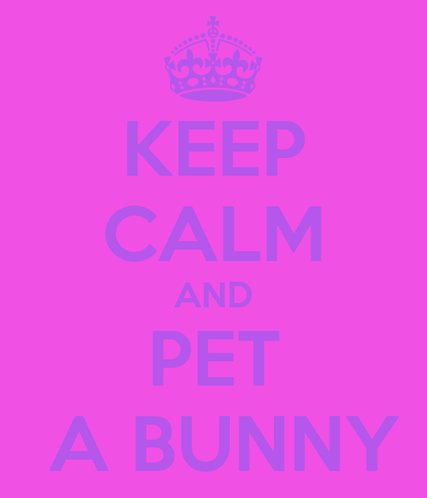 KEEP CALM AND PET  A BUNNY