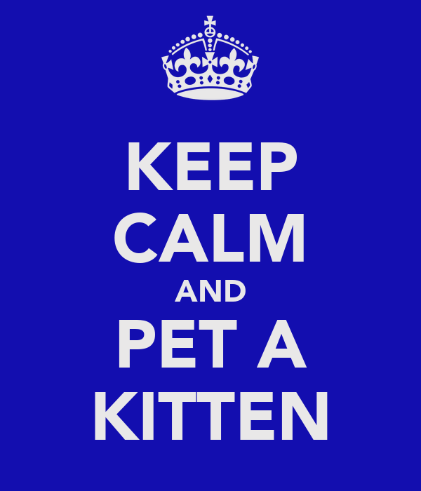 KEEP CALM AND PET A KITTEN