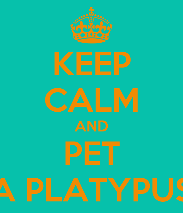 KEEP CALM AND PET A PLATYPUS