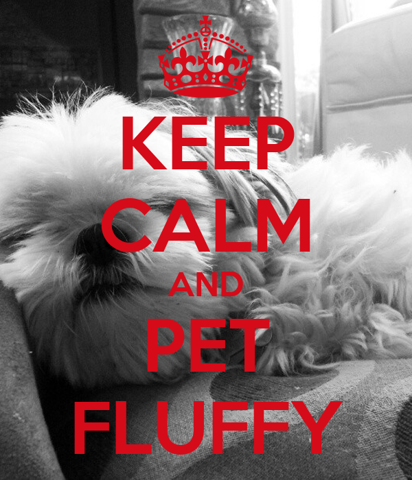 KEEP CALM AND PET FLUFFY