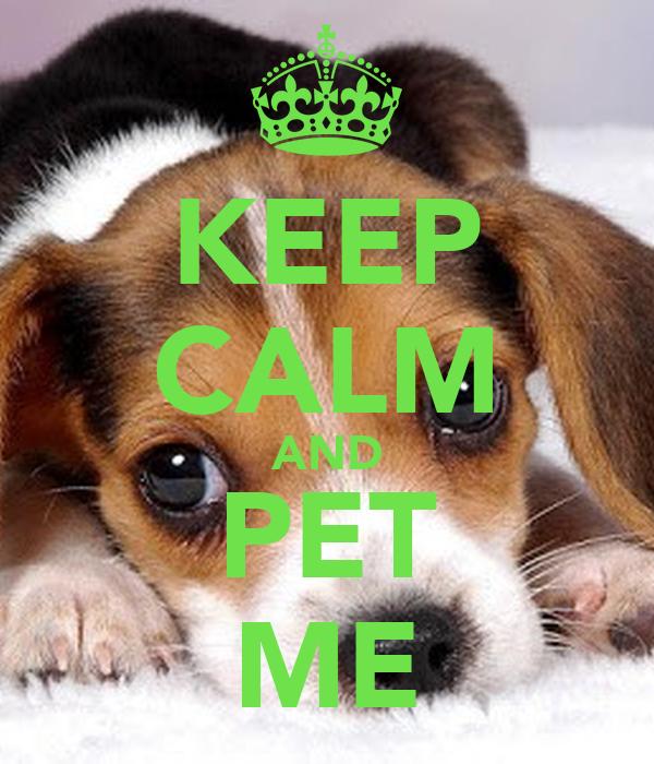 KEEP CALM AND PET ME