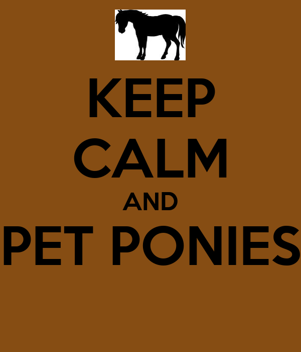KEEP CALM AND PET PONIES