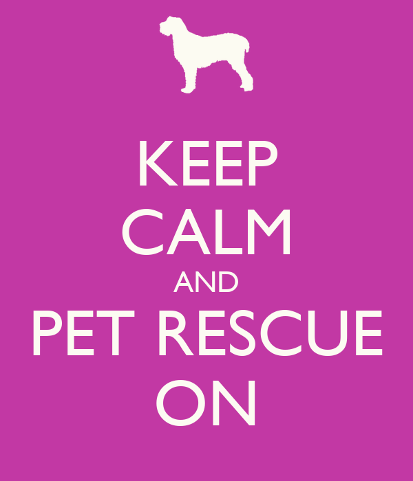 KEEP CALM AND PET RESCUE ON