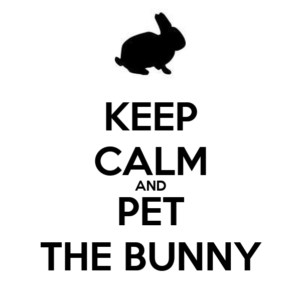KEEP CALM AND PET THE BUNNY