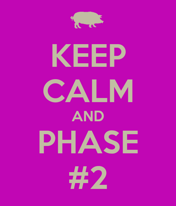 KEEP CALM AND PHASE #2