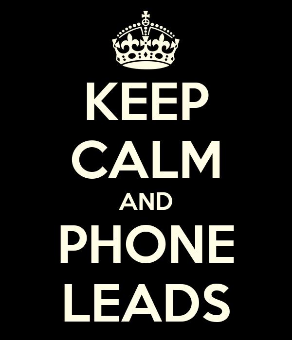 KEEP CALM AND PHONE LEADS