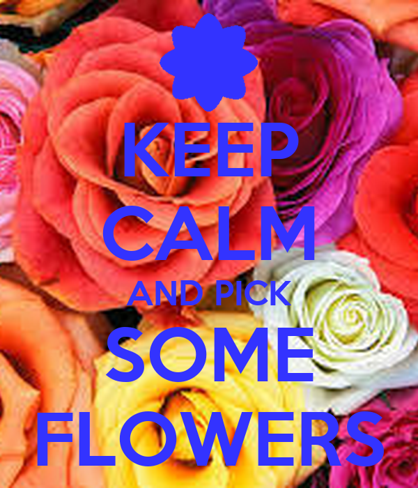 KEEP CALM AND PICK SOME FLOWERS
