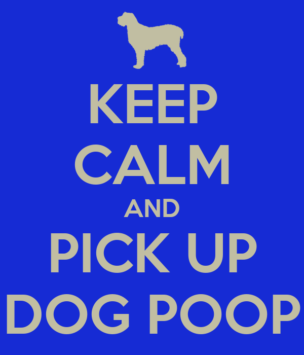 KEEP CALM AND PICK UP DOG POOP