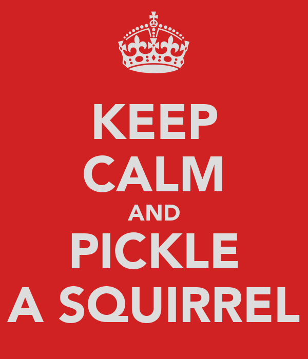 KEEP CALM AND PICKLE A SQUIRREL
