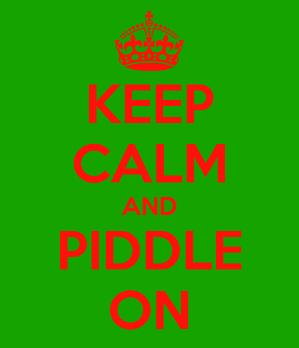 KEEP CALM AND PIDDLE ON