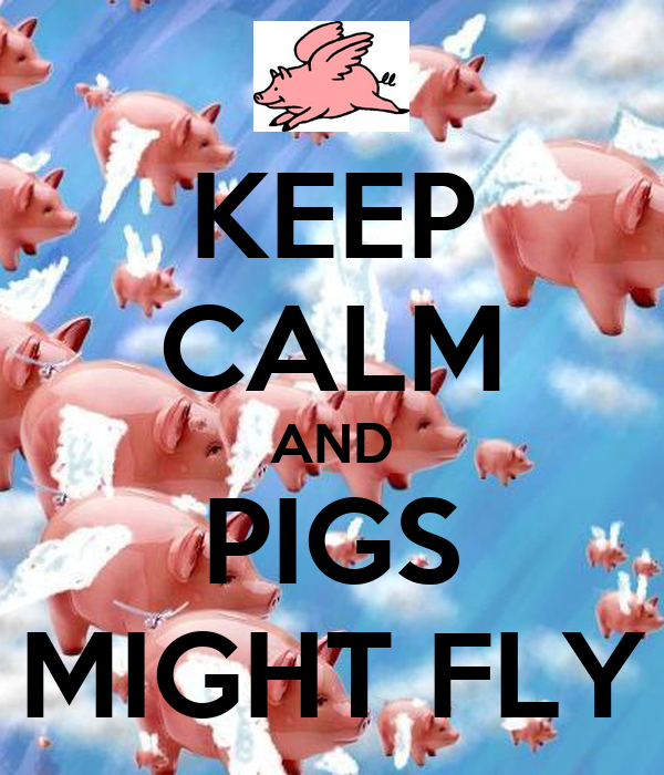 KEEP CALM AND PIGS MIGHT FLY