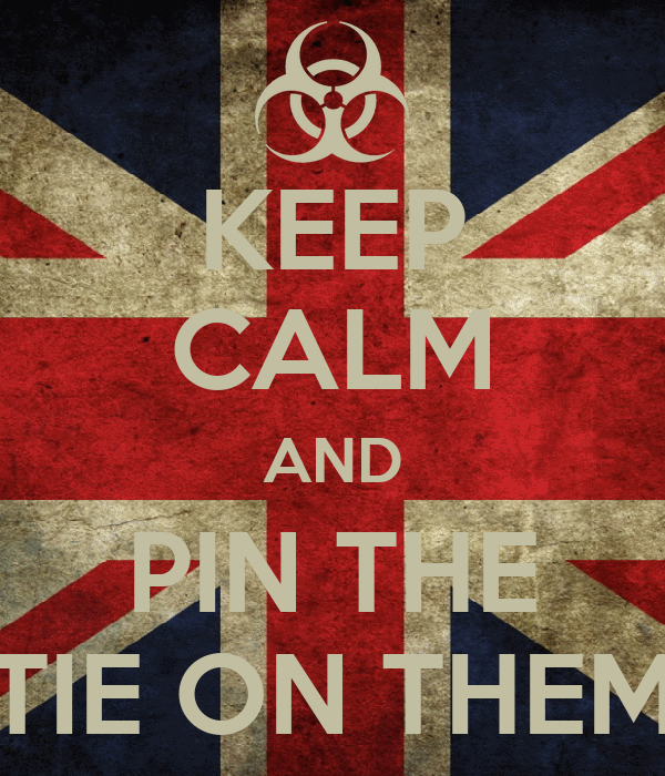 KEEP CALM AND PIN THE TIE ON THEM