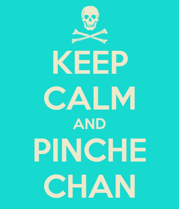 KEEP CALM AND PINCHE CHAN