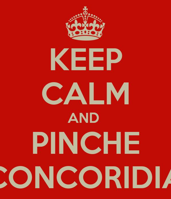KEEP CALM AND  PINCHE CONCORIDIA