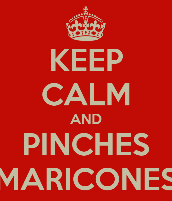 KEEP CALM AND PINCHES MARICONES