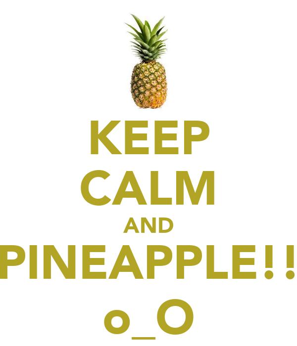 KEEP CALM AND PINEAPPLE!! o_O