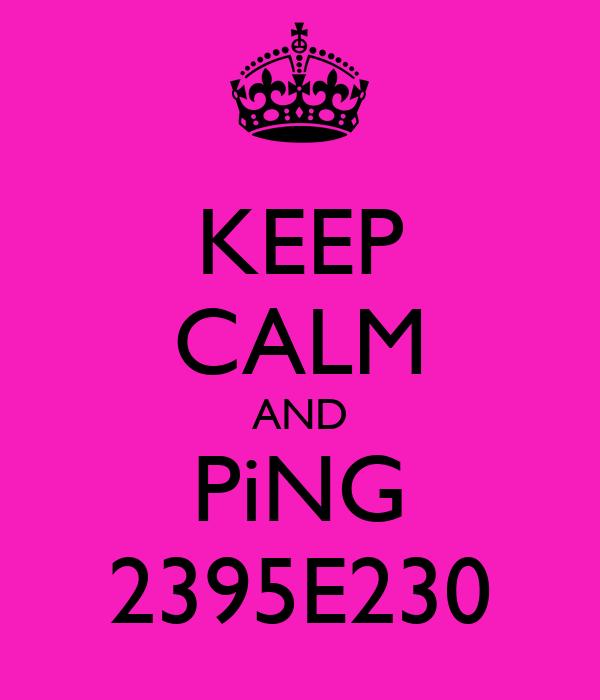 KEEP CALM AND PiNG 2395E230