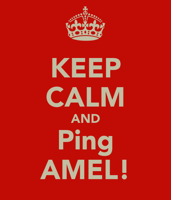 KEEP CALM AND Ping AMEL!