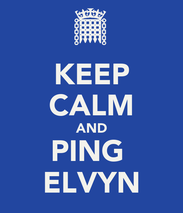 KEEP CALM AND PING  ELVYN