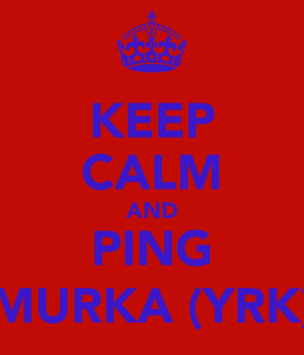 KEEP CALM AND PING MURKA (YRK)
