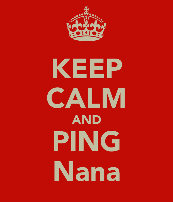 KEEP CALM AND PING Nana