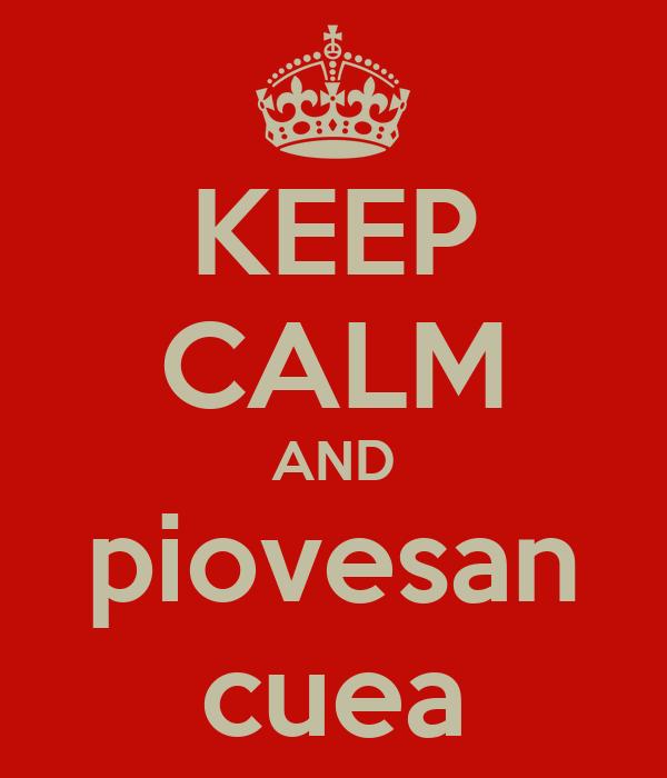 KEEP CALM AND piovesan cuea