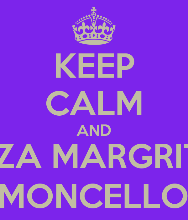 KEEP CALM AND PIZZA MARGRITA,  LEMONCELLOW.