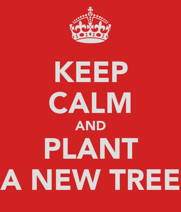 KEEP CALM AND PLANT A NEW TREE