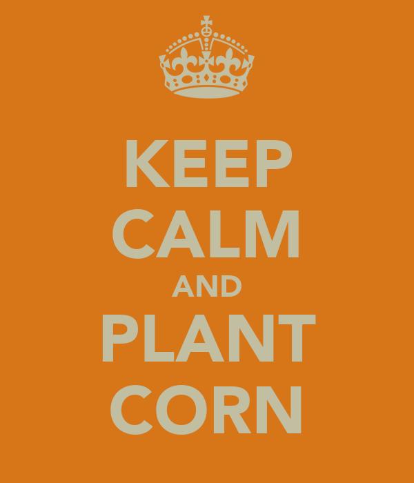 KEEP CALM AND PLANT CORN