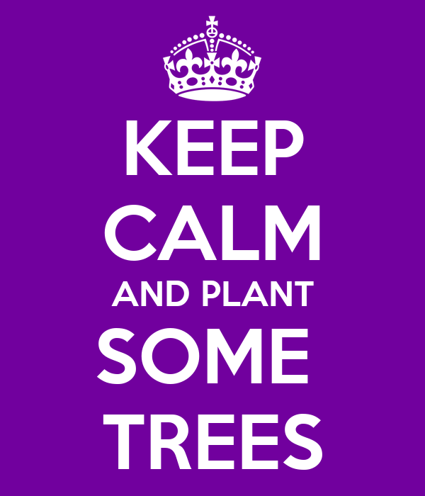 KEEP CALM AND PLANT SOME  TREES