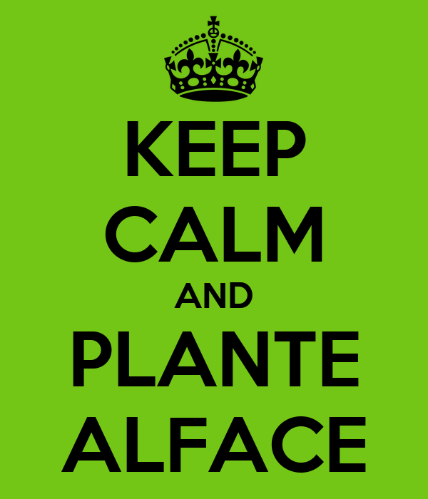 KEEP CALM AND PLANTE ALFACE