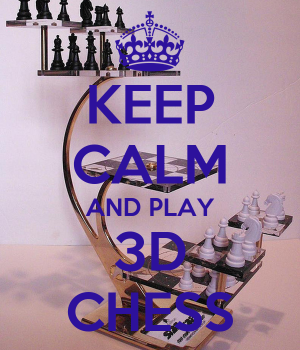 KEEP CALM AND PLAY 3D CHESS