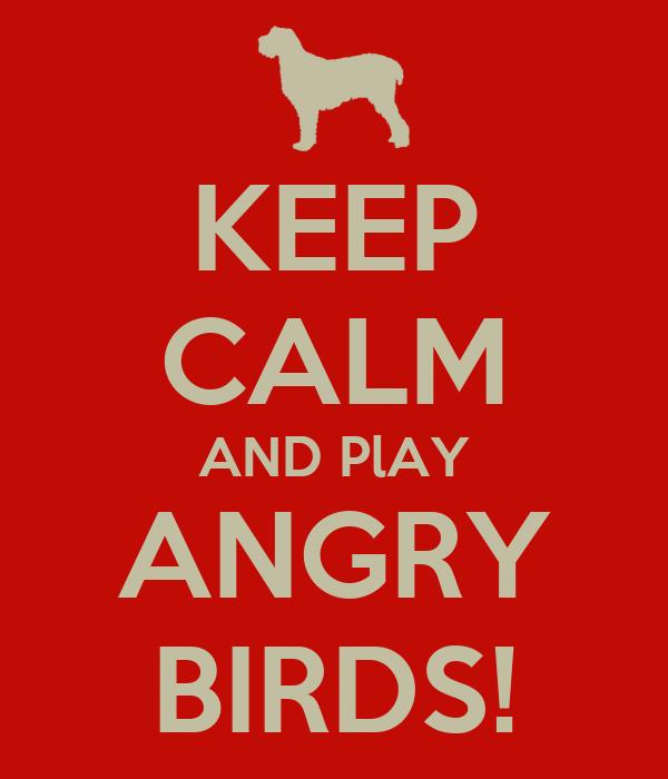 KEEP CALM AND PlAY ANGRY BIRDS!