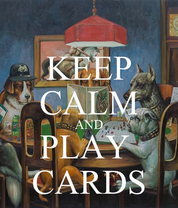 KEEP CALM AND PLAY  CARDS