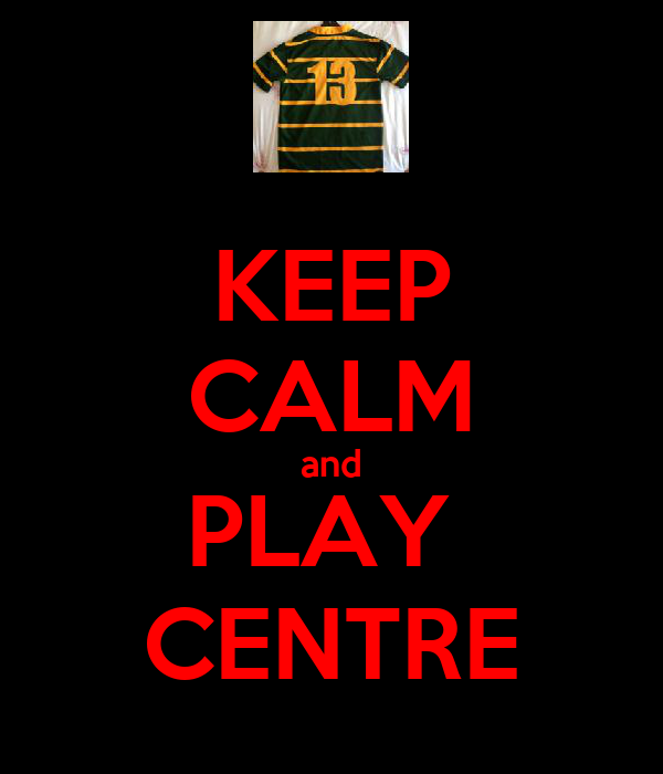 KEEP CALM and PLAY  CENTRE