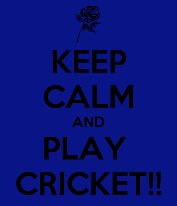 KEEP CALM AND PLAY  CRICKET!!