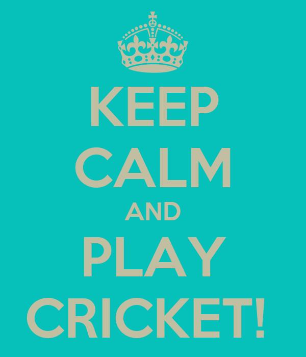 KEEP CALM AND PLAY CRICKET!