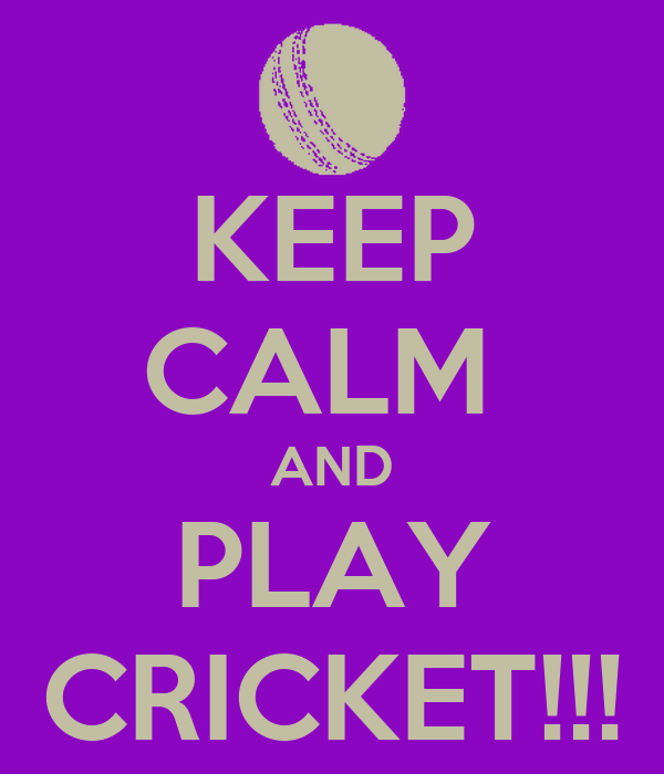 KEEP CALM  AND PLAY CRICKET!!!