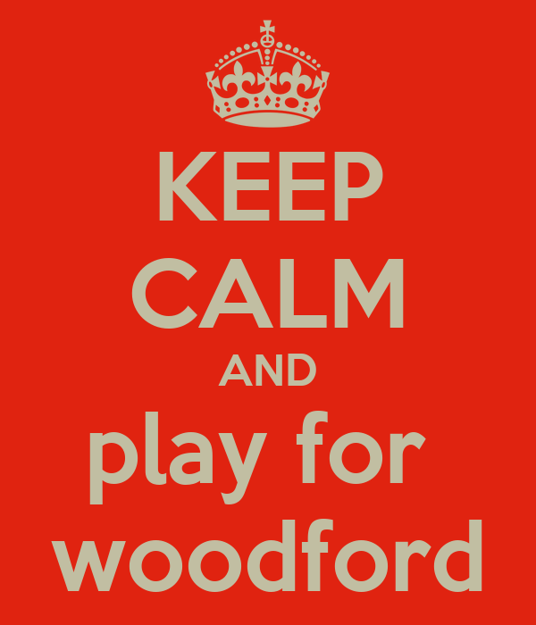 KEEP CALM AND play for  woodford