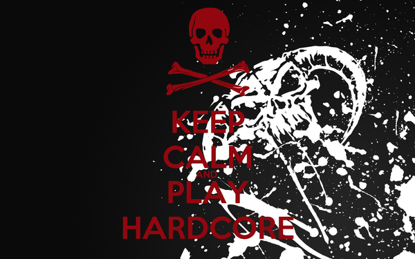 KEEP CALM AND  PLAY HARDCORE
