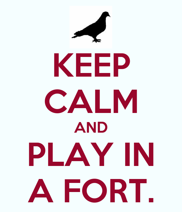 KEEP CALM AND PLAY IN A FORT.