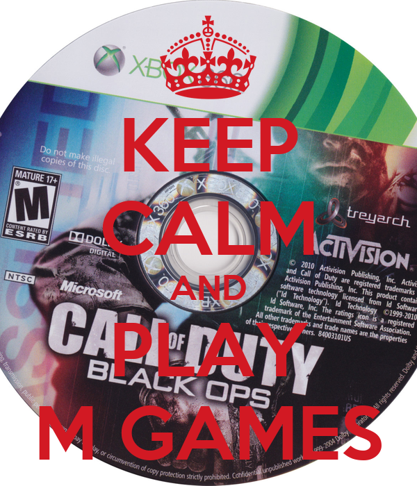 KEEP CALM AND PLAY M GAMES