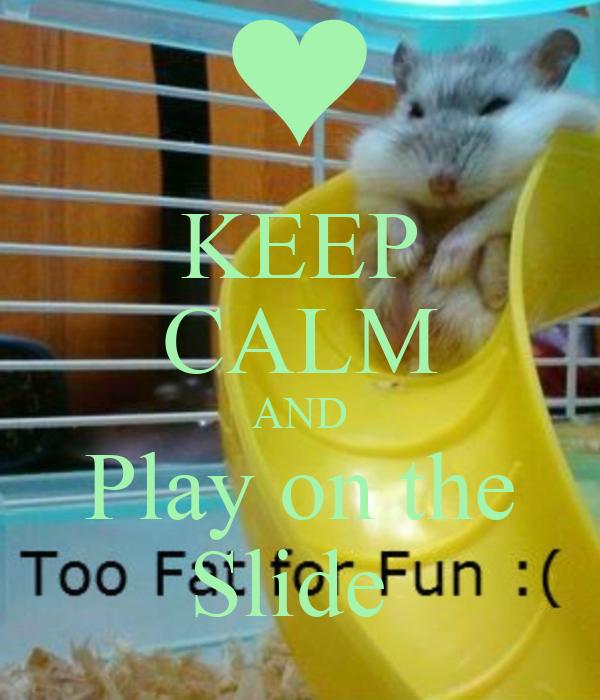 KEEP CALM AND Play on the Slide