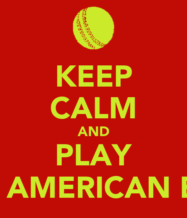 KEEP CALM AND PLAY SOFTBALL AMERICAN EAGLES 00