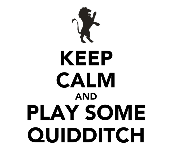 KEEP CALM AND PLAY SOME QUIDDITCH