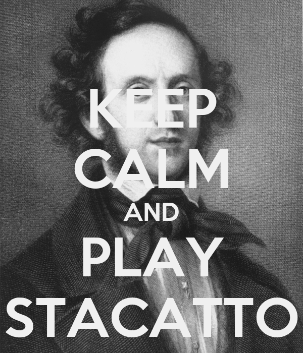KEEP CALM AND PLAY STACATTO