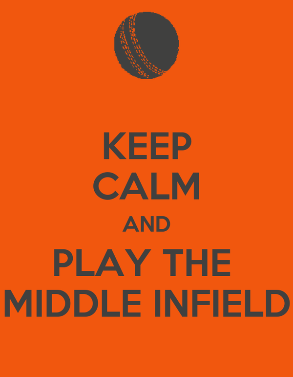 KEEP CALM AND PLAY THE  MIDDLE INFIELD