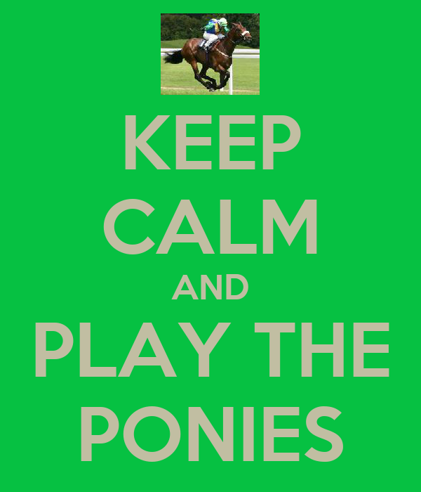 KEEP CALM AND PLAY THE PONIES