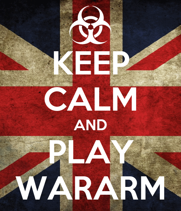 KEEP CALM AND PLAY WARARM