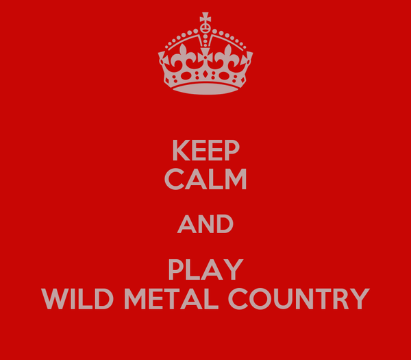 KEEP CALM AND PLAY WILD METAL COUNTRY